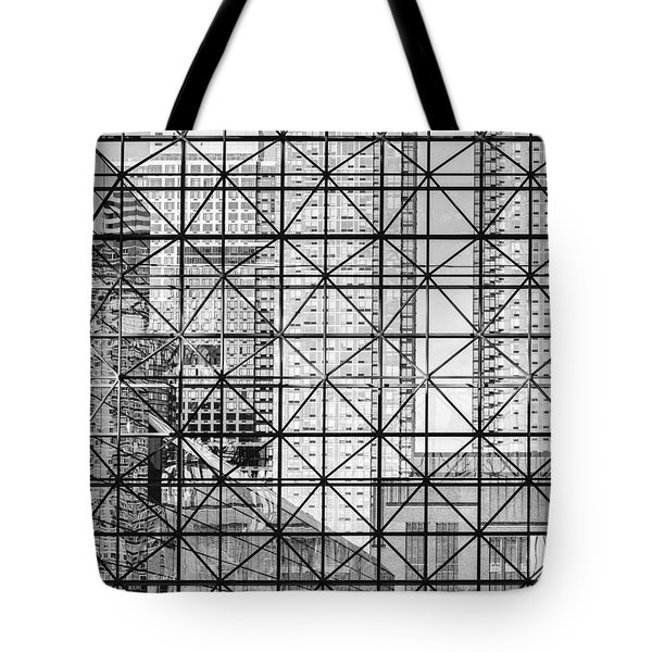 City Windows Abstract Black And White Tote Bag