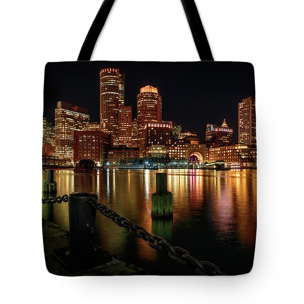 City With A Soul- Boston Harbor Tote Bag