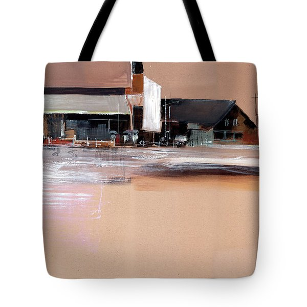 Tote Bag featuring the painting Cityscape 3 by Anil Nene