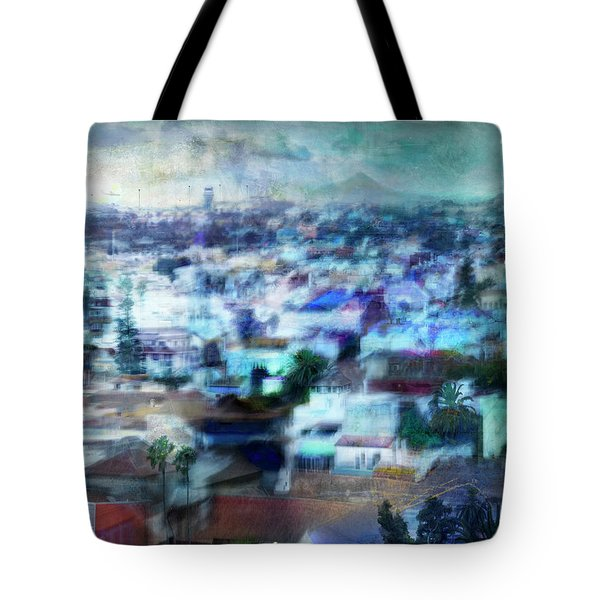 Cityscape #41 - Blue Whispers Tote Bag