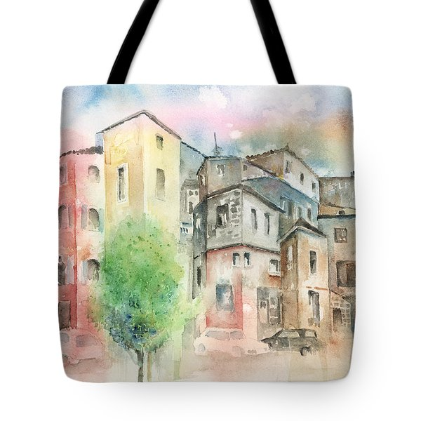 Cityscape Tote Bag by Arline Wagner