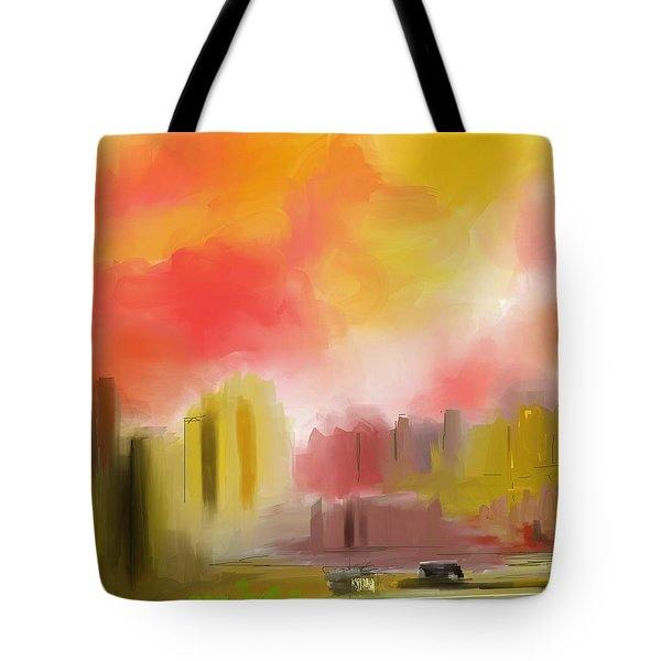 Cityscape Tote Bag by David Lane
