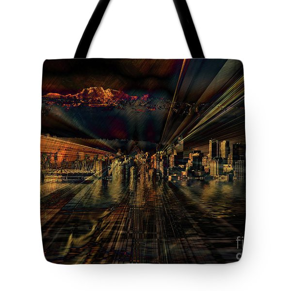 Cityscape Tote Bag by Elaine Hunter