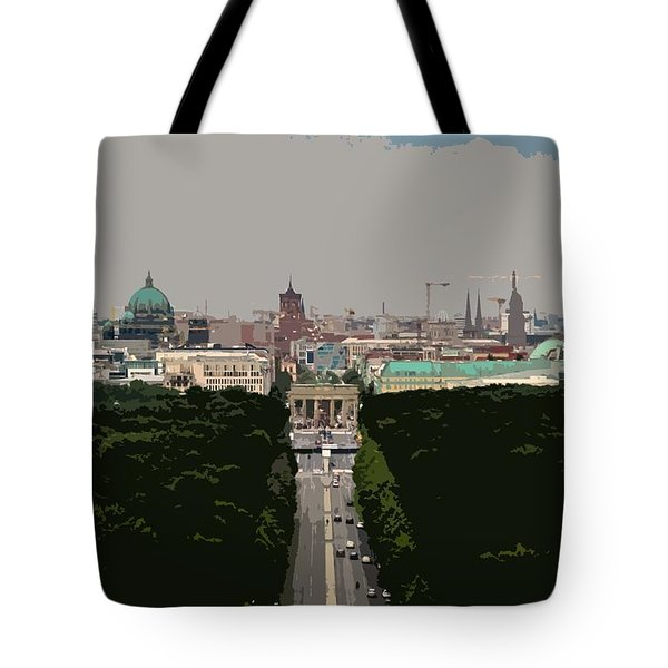 Cityscape Of Berlin - Painting Effect Tote Bag
