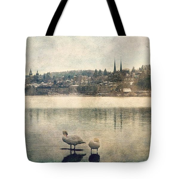 Cityscape Of Lucerna Tote Bag