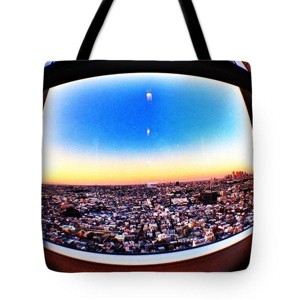 Cityscape Skyline Tote Bag
