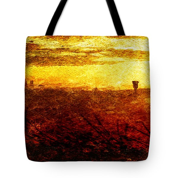 Cityscape Sunset Tote Bag