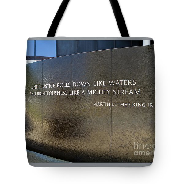 Tote Bag featuring the photograph Civil Rights Memorial by Steven Frame
