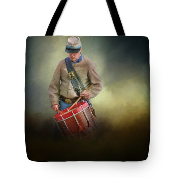 Civil War Drummer Boy Tote Bag
