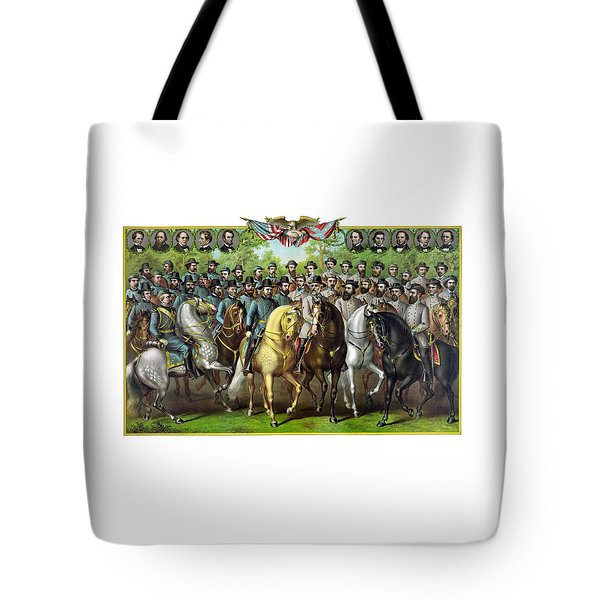 Civil War Generals And Statesman Tote Bag by War Is Hell Store