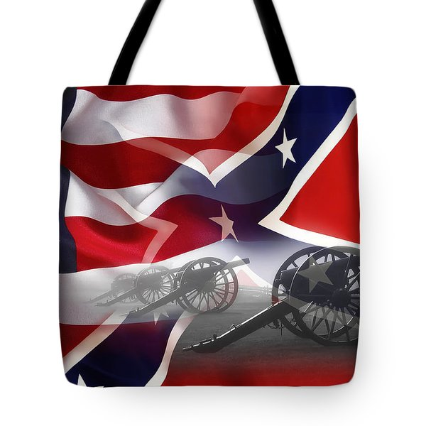 Civil War Silent Cannons Tote Bag