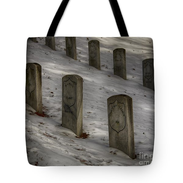 Tote Bag featuring the photograph Civil War Stones by JRP Photography