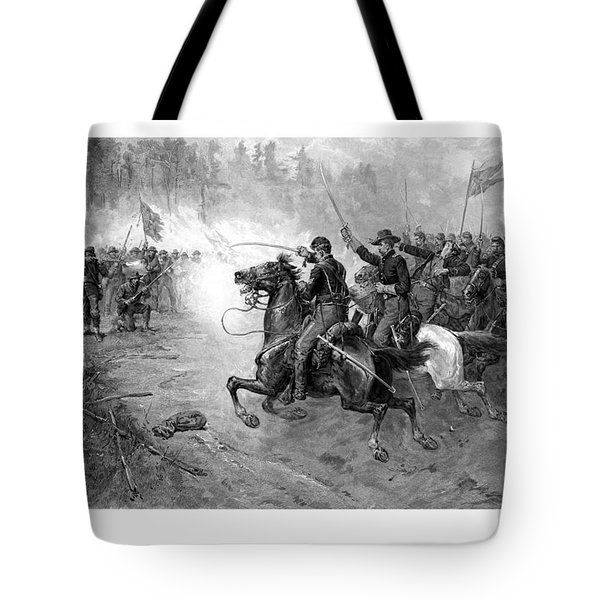 Civil War Union Cavalry Charge Tote Bag