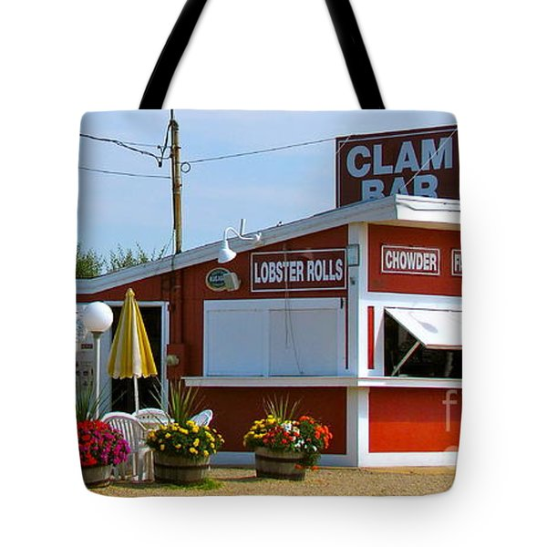 Clam Bar Tote Bag by Beth Saffer