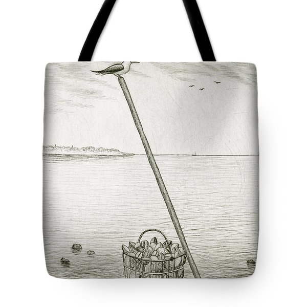 Clamming Tote Bag by Charles Harden