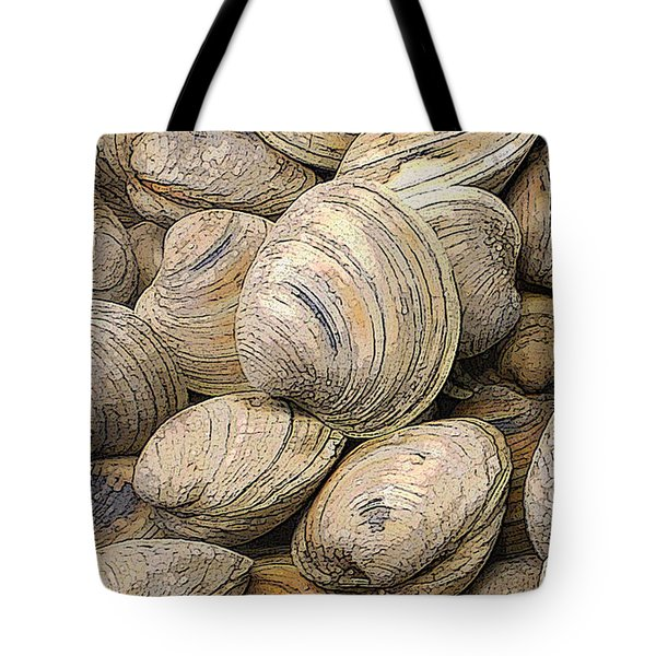 Tote Bag featuring the photograph Clams And Mussels by Donald Maier