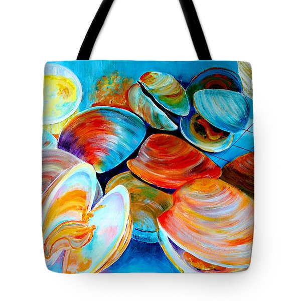 Clams At The Jersey Shore Tote Bag