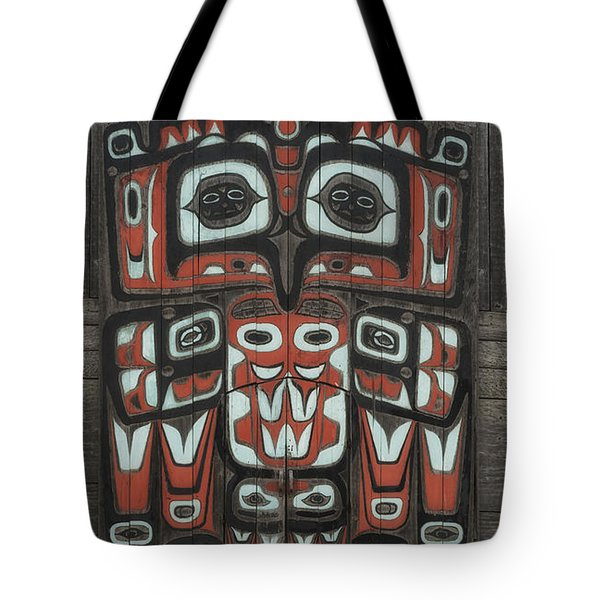 Clan House In Haines Alaska Tote Bag by Gary Warnimont
