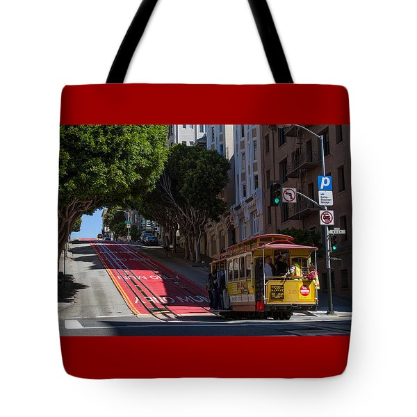Clang Clang Goes The Cable Car Tote Bag