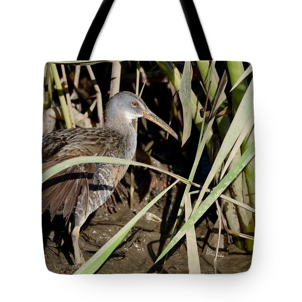Tote Bag featuring the photograph Clapper Rail  by Kathy Gibbons