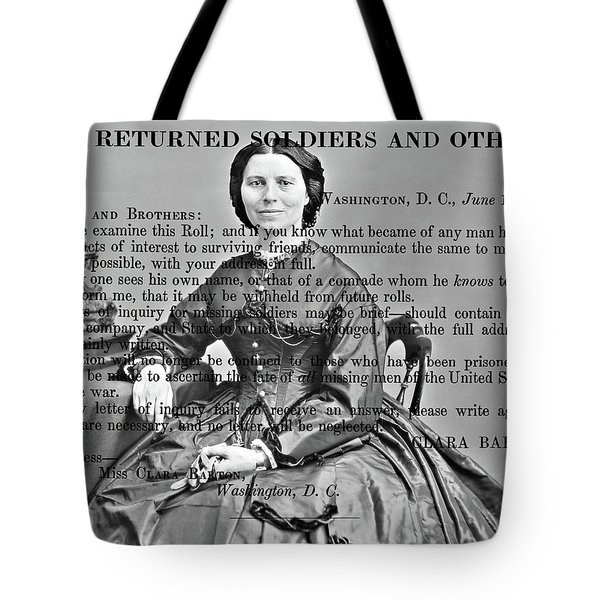 Clara Barton Tote Bag
