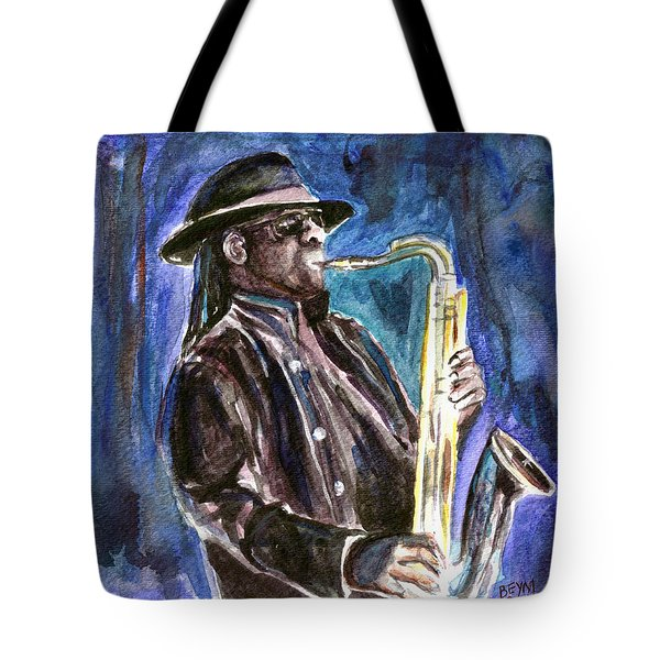 Clarence Clemons Tote Bag by Clara Sue Beym