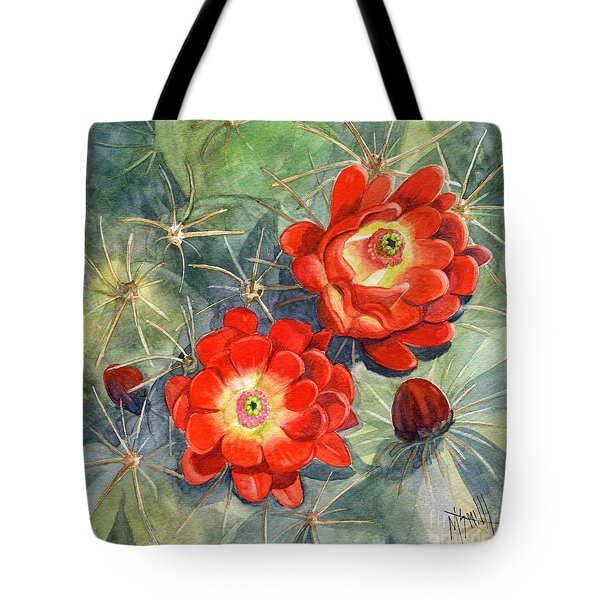 Claret Cup Cactus Tote Bag by Marilyn Smith