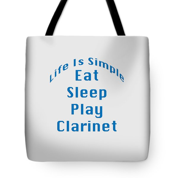 Clarinet Eat Sleep Play Clarinet 5512.02 Tote Bag