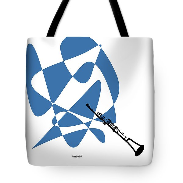 Clarinet In Blue Tote Bag
