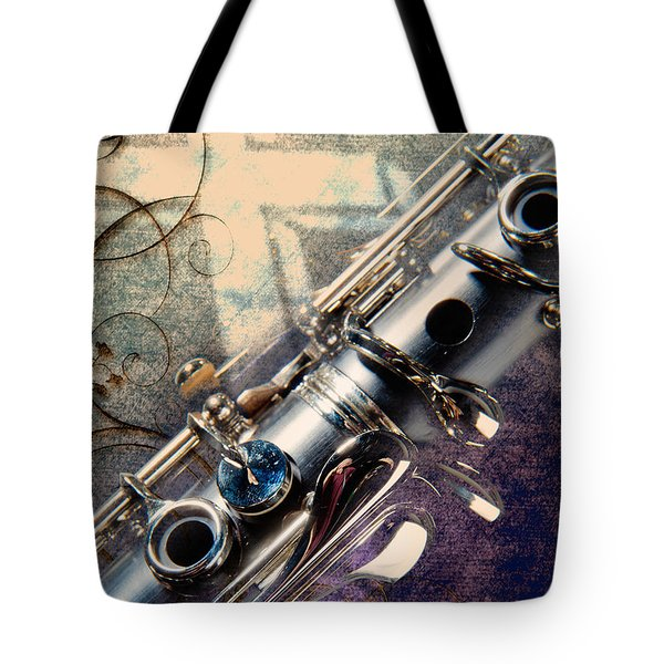 Clarinet Music Instrument Against A Cross 3520.02 Tote Bag by M K  Miller