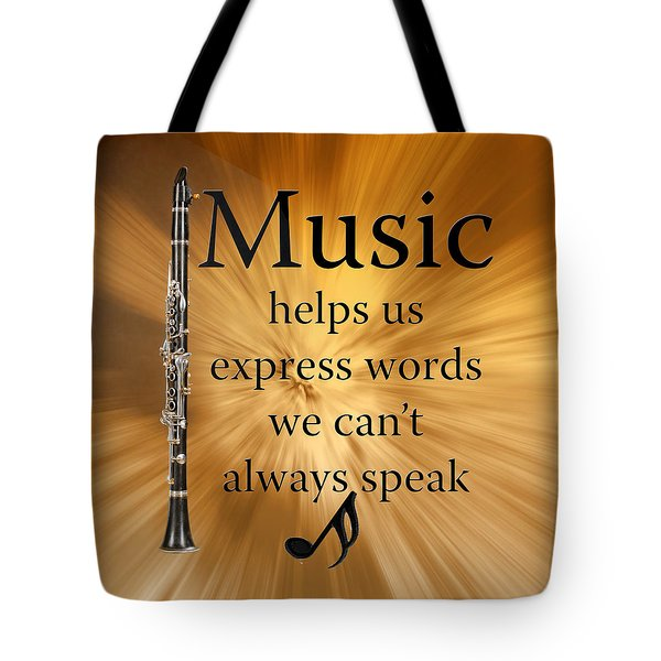 Clarinets Expresses Words Tote Bag