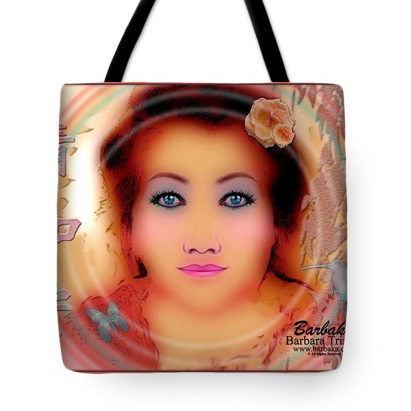 Clarity Harmony Tranquility Tote Bag by Barbara Tristan