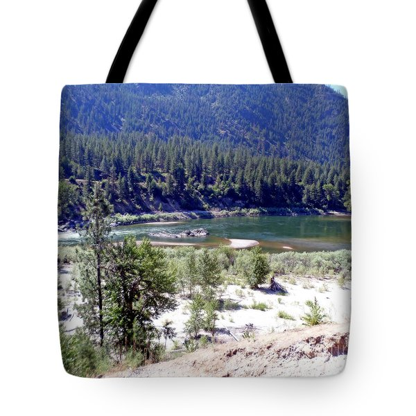 Clark Fork River Missoula Montana Tote Bag