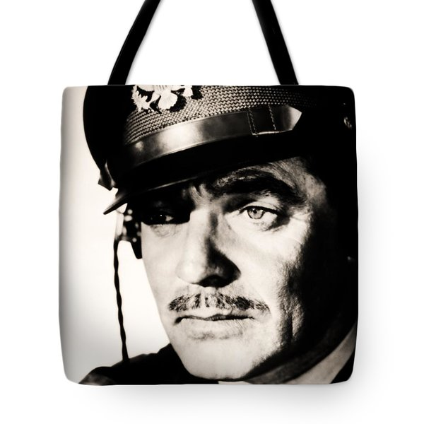 Tote Bag featuring the photograph Clark Gable Hollywood Sex Symbol In The Movie Command Decision by R Muirhead Art