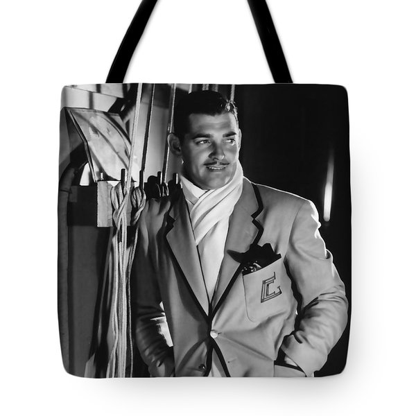 Tote Bag featuring the photograph Clark Gable Hollywood Movie Idol  by R Muirhead Art