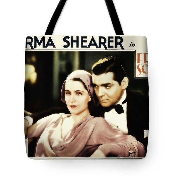 Tote Bag featuring the photograph Clark Gable Movie Idol In A Free Soul by R Muirhead Art