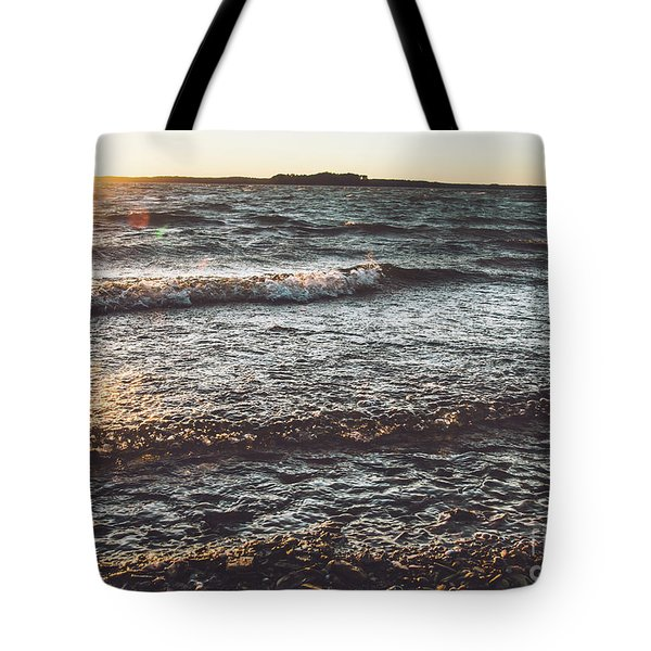 Tote Bag featuring the photograph Clarks Hill Lake by Andrea Anderegg