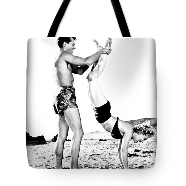 Tote Bag featuring the photograph Clash By Night With Marilyn Monroe by R Muirhead Art
