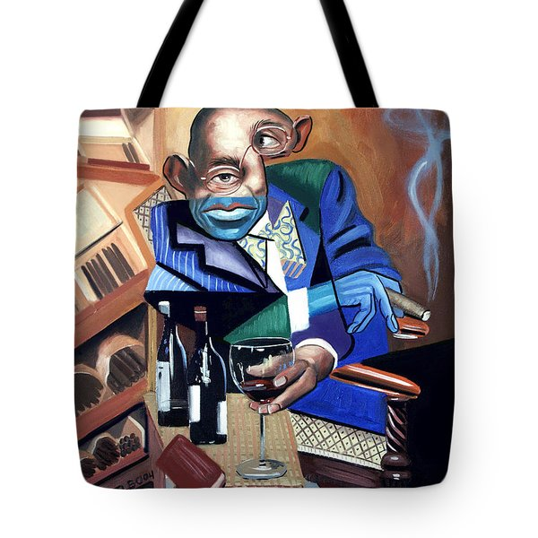 Tote Bag featuring the painting Class Act by Anthony Falbo