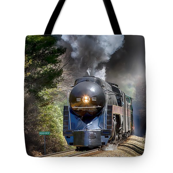 Class J 611 Steam Engine At Ridgecrest Tote Bag