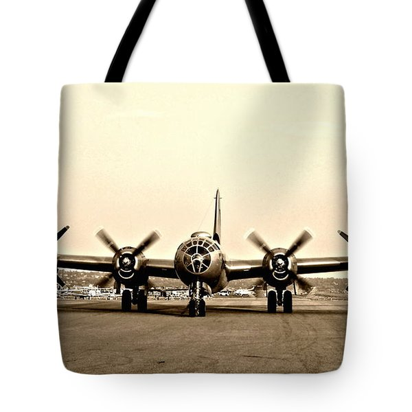 Classic B-29 Bomber Aircraft Tote Bag