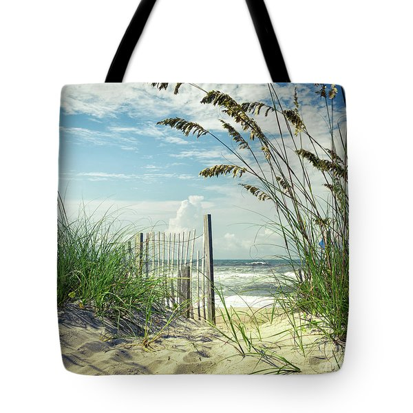 To The Beach Sea Oats Tote Bag