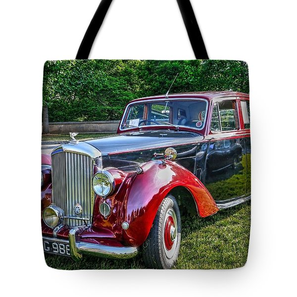 Classic Bentley In Red Tote Bag