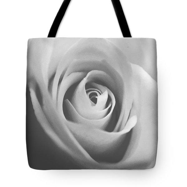 Classic Bw Rose Tote Bag