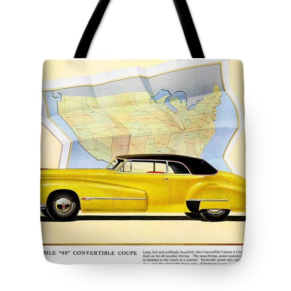 Classic Car Ads Tote Bag by Allen Beilschmidt