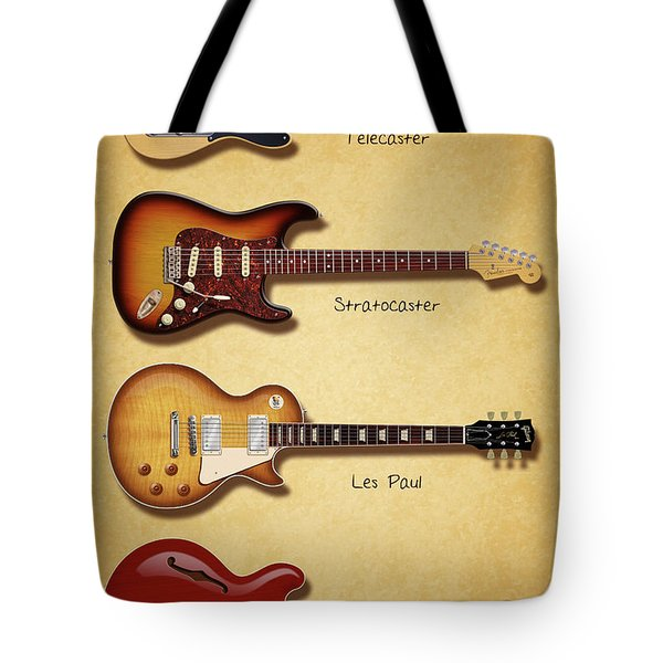Classic Electric Guitars Tote Bag