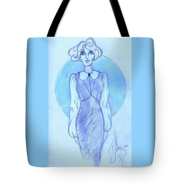 Tote Bag featuring the drawing Classic Fitted Jumper by P J Lewis