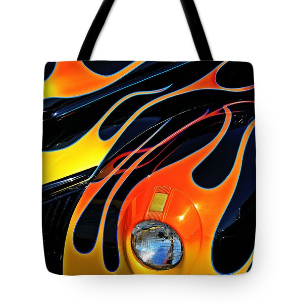 Classic Flames Tote Bag by Perry Webster