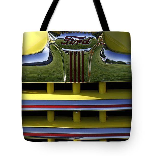 Classic Ford Chrome Grill Tote Bag