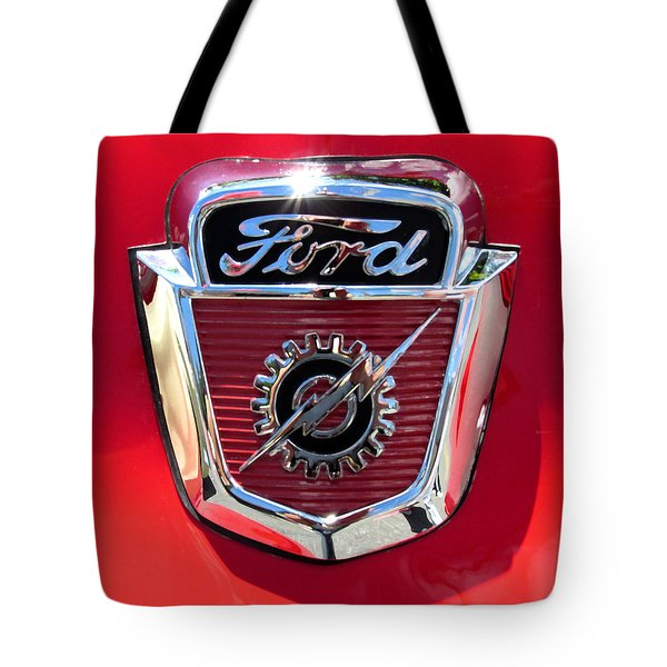 Classic Ford Logo Tote Bag by Spyder Webb